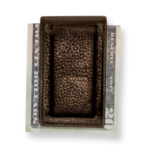Brown Leather Magnetic Money Clip GP5834