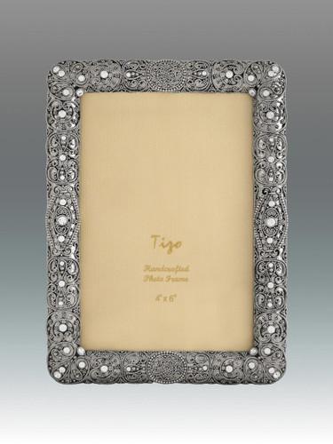 Tizo 8 x 10 Inch Chain of Life Jeweltone Picture Frame - HomeBello