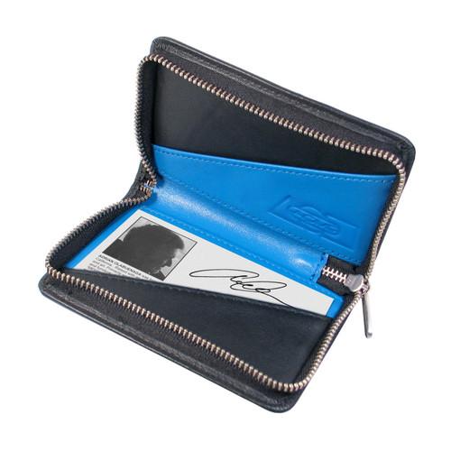 Acme Blue Zip Card Case