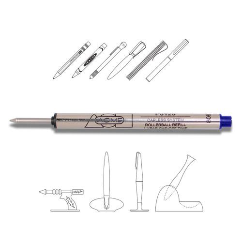 Acme P8126 Roller Ball Blue (Capless) Refill Medium