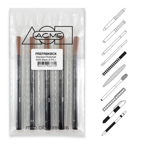 Acme 888 Roller Ball Black (Prepack Of 5) Refill Medium