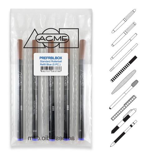 Acme 889 Roller Ball Blue (Prepack Of 5) Refill Medium