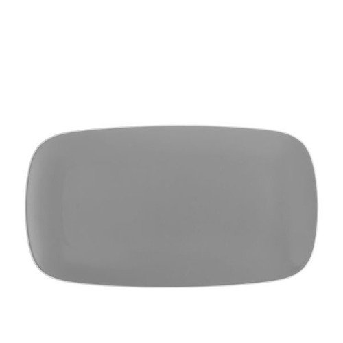 Nambe Pop Soft Rectangular Platter Slate 16 Inch L x 9 Inch W x 0.75 Inch H