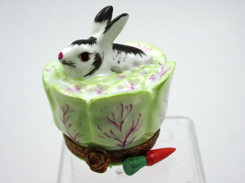 Chamart Bunny In Cabbage Limoges Box 2000/106