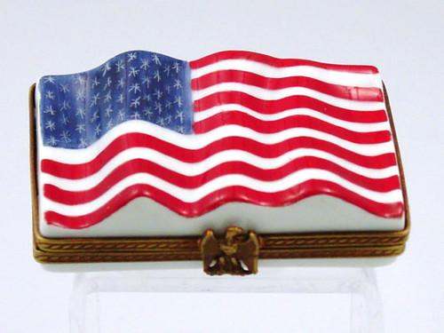 Chamart American Flag Limoges Box 91/131