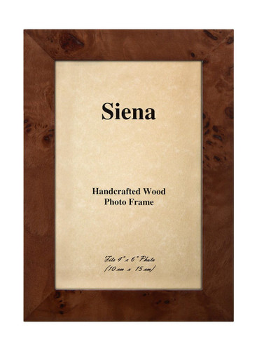 Tizo 4 x 6 Inch Clouds Up Wood Picture Frame - Brown