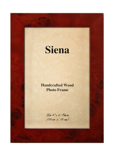 Tizo 4 x 6 Inch Clouds Up Wood Picture Frame - Red