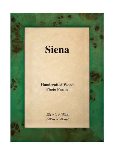 Tizo 4 x 6 Inch Clouds Up Wood Picture Frame - Green