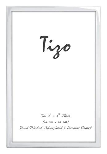Tizo 5 x 7 Inch Shino Silverplated Picture Frame