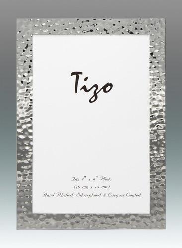 Tizo 5 x 7 Inch Turmoil Silverplated Picture Frame
