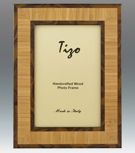 Tizo 5 x 7 Inch Double Chocolate Wood Picture Frame