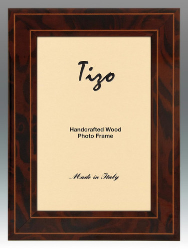 Tizo 5 x 7 Inch Brown Eclipse Wood Picture Frame
