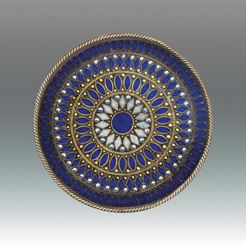 Tizo Galaxies Jeweltone Round Coaster - Blue
