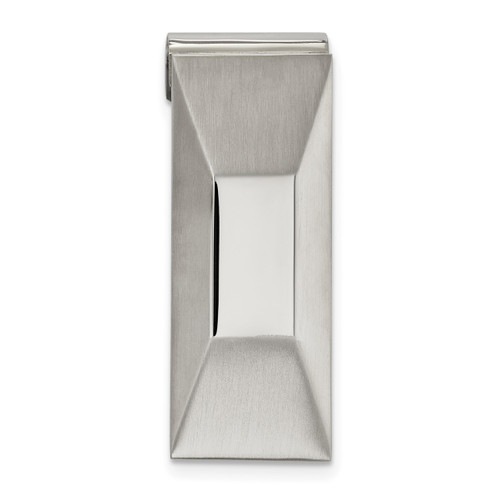 Brushed Money Clip Stainless Steel Polished SRM179