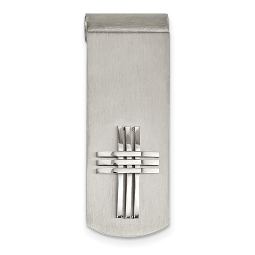 Cross Money Clip Stainless Steel Brushed SRM184
