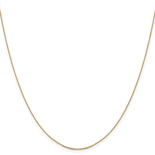 .85 mm Diamond-cut Cable Chain 18 Inch 14k Gold 1251-18