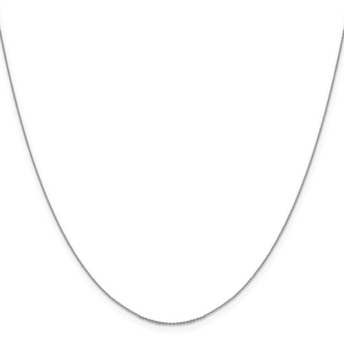 .85 mm Diamond-cut Cable Chain 16 Inch 14K White Gold 1252-16