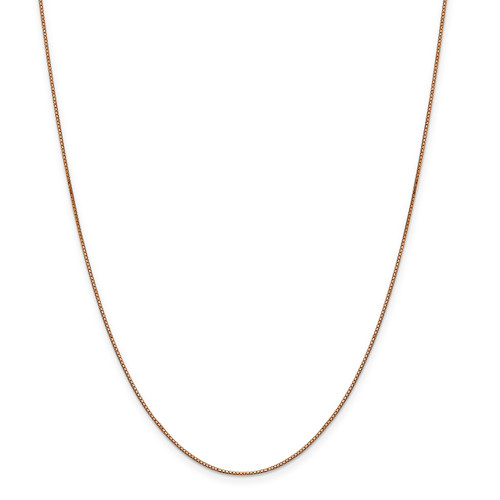 .8 mm Box with Lobster Chain 24 Inch 14k Rose Gold  7160-24
