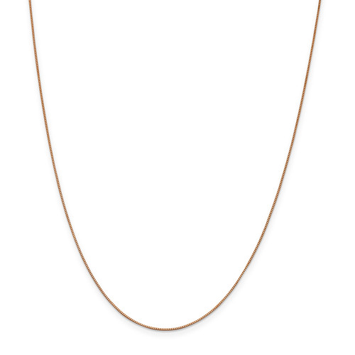 .7 mm Box with Lobster Chain 18 Inch 14k Rose Gold  7168-18