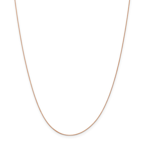 .5 mm Baby Box Chain 24 Inch 14k Rose Gold  7169-24