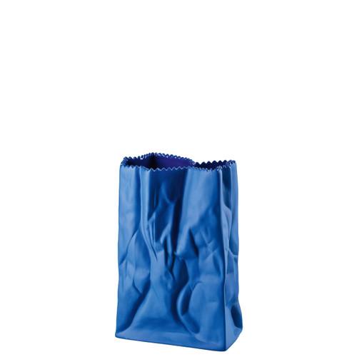 Rosenthal Bag Vase Vase Deep Blue 7 Inch