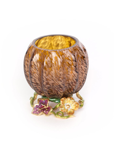 Jay Strongwater Carmella Leaf and Flower Jeweled Votive Bouquet SDH2459-289