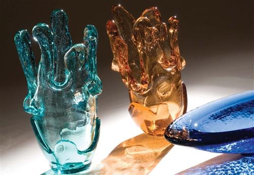 Fire and Light Splash Vase