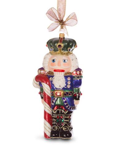 Jay Strongwater Nutcracker Glass Ornament Jewel SDH2241-250