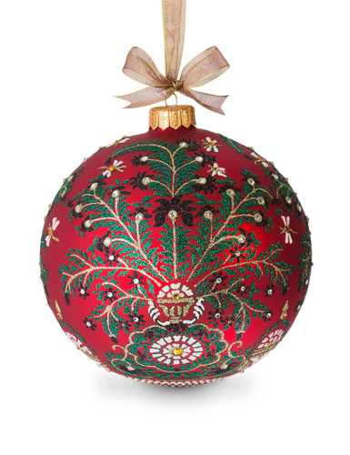 Jay Strongwater Tree of Paradise Artisan 7 Inch Ornament Siam SDH2258-222