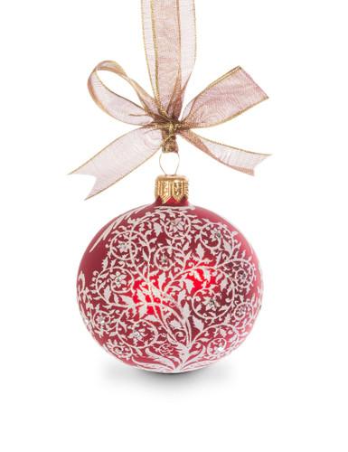Jay Strongwater Filigree Artisan 3 Inch Ornament Siam SDH2263-222