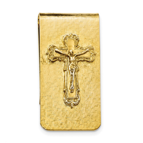 Crucifix Money Clip 14k Gold-plated RF562