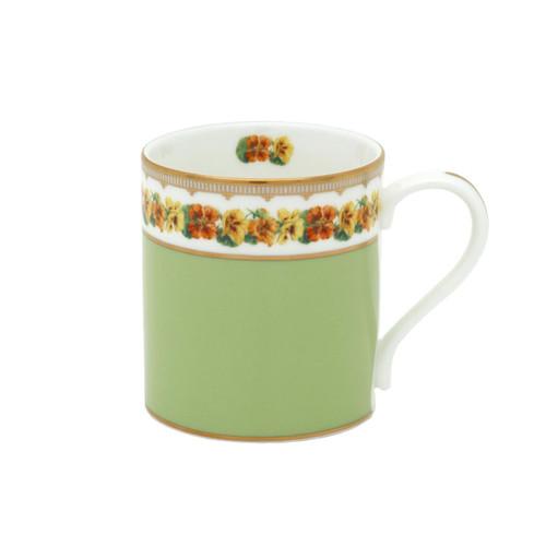 Halcyon Days Shell Garden Floral Nasturtium Green Mug BCCNA09MGG