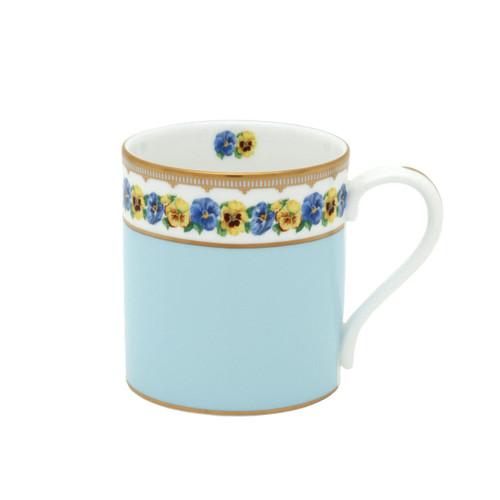Halcyon Days Shell Garden Floral Pansies Blue Mug BCCPA12MGG