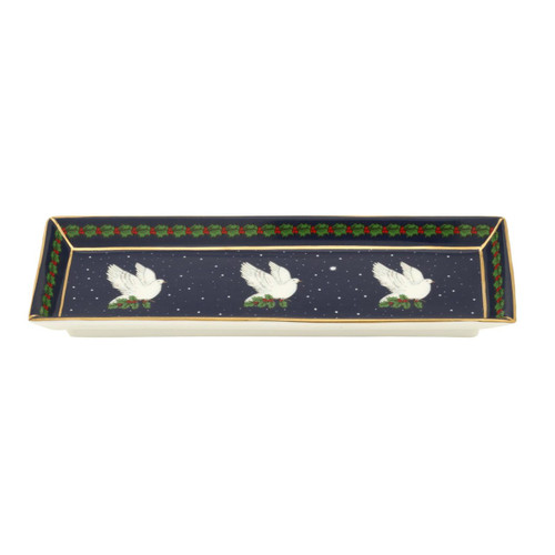 Halcyon Days Dove of Peace Rectangular Tray BCDOP11RTG