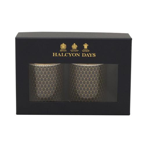 Halcyon Days Antler Trellis Black Mug Set of 2 BCGAT02MSG