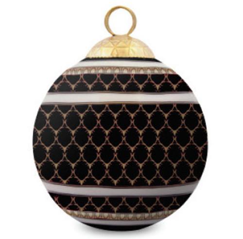 Halcyon Days Antler Trellis Black Bauble Ornament BCGAT02XBN