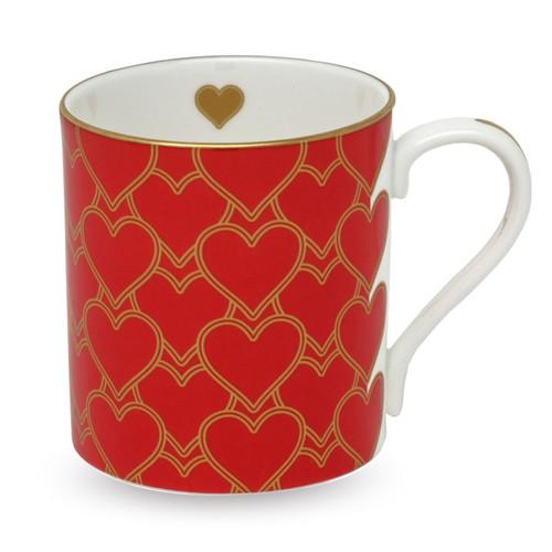 Halcyon Days Heart Trellis Red Mug BCHTR06MGG