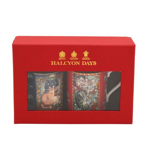 Halcyon Days LAI Octopussy & June's Cat at Christmas Mug Set of 2 BCLOJ01MSG