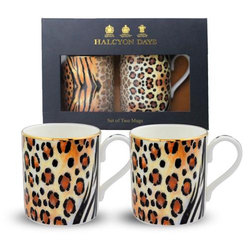 Halcyon Days Mixed Animal Print Mug Set of 2 BCMAP24MSG