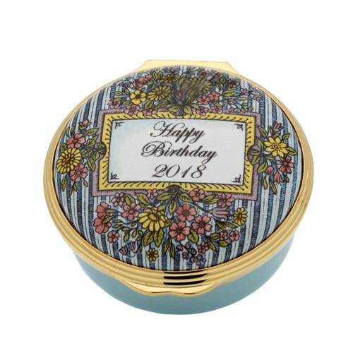 Halcyon Days 2018 Happy Birthday Enamel Box, MPN: ENHB181201G, EAN: 5060171161417