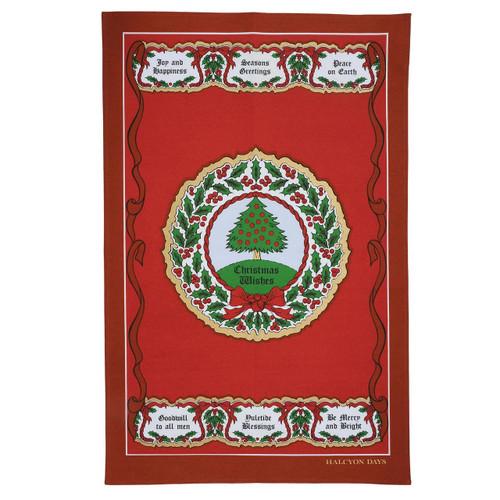 Halcyon Days Vintage Christmas Tree Tea Towel SAVCT06TT