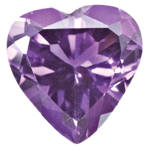 Amethyst 3mm Heart Faceted Gemstone AM-0300-HTF-AA