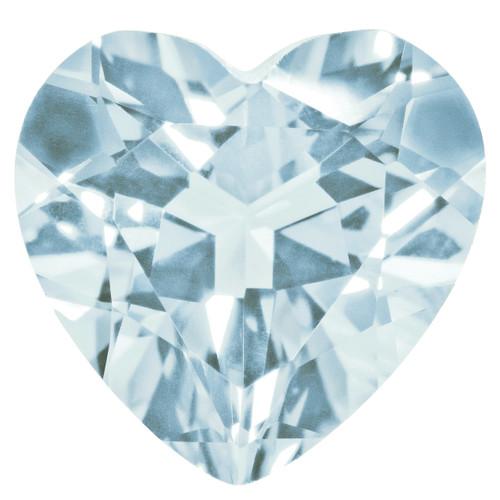 Aquamarine 4mm Heart Faceted Gemstone AQ-0400-HTF-A