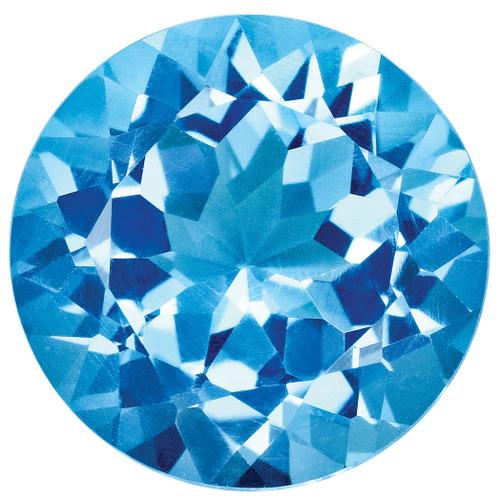 Blue Topaz 2mm Round Gemstone BT-0200-RDF-AA