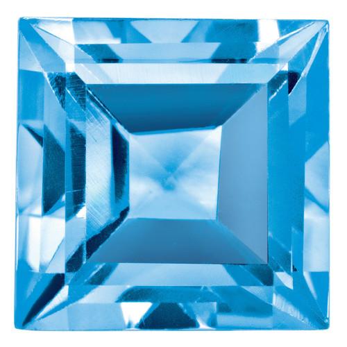 Blue Topaz 5mm Square Step Cut Gemstone BT-0500-SQS-AA
