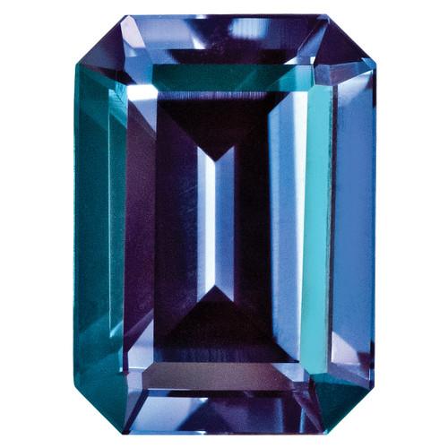 Created Alexandrite 5X3mm Emerald Cut Gemstone CA-0503-OCE