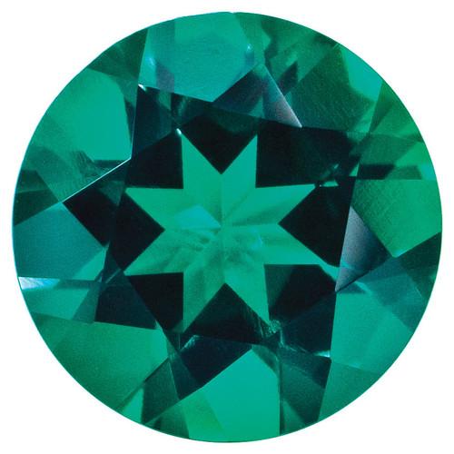 Created Emerald 1.25mm Round Gemstone CE-0125-RDF