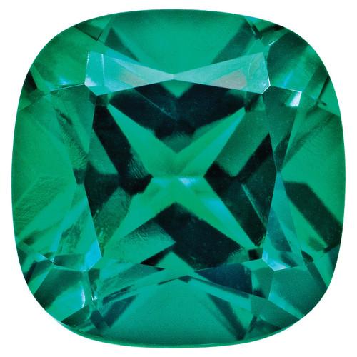 Created Emerald 5mm Sq Cush Gemstone CE-0500-CUF