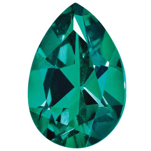 Created Emerald 5X3mm Pear Gemstone CE-0503-PSF