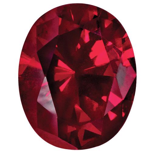 Created Ruby 10X8mm Oval Gemstone CR-1008-OVF